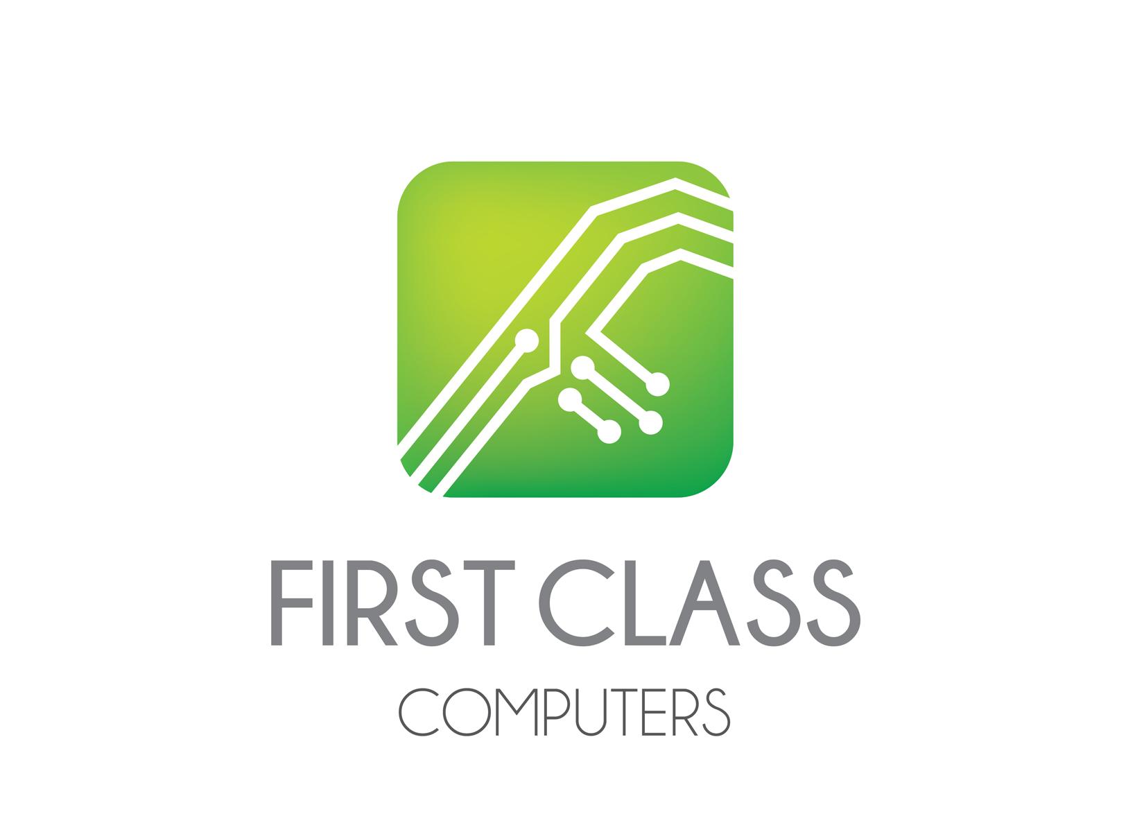 First Class Computers Logo Laura Mccann Design